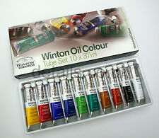 Winsor and Newton Winton huile couleur 10 x 37ml tube, paint set-rrp £ 40.00