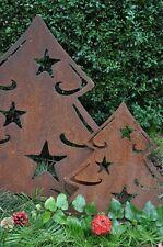 Edelrost Weihnachtsbaum mit Sternen 60cm hoch Deko Skulpturen