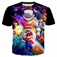 Funny Super Mario Bros 3D Print Casual T-Shirt New Women Men Short Sleeve Tops