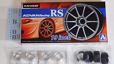 "Aoshima 1/24 ADVAN Racing RS 19""  Wheel Rims & Tire Set for Models 5378 (45)"