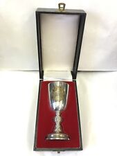 Isle Of Man Millennium Tynwald Solid Silver & Gilt Goblet Cased A T Cannon 1979