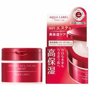 Shiseido Japan Aqua Label Moist 5-in-1 Collagen Special Gel Cream Moist 90g/3oz.
