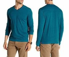 AGAVE Walter Long Sleeve V-Neck Tee T-shirt in Seaport Size Large NWT