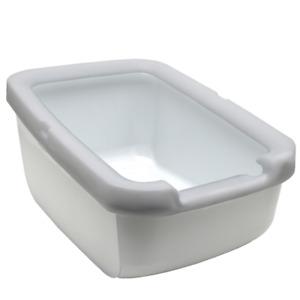 Catit Deep Base Cat Pan with Littershield Rim Grey 57L x 30H x 39Wcm - Pet Waste