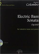 Massimo Colombo: Electric Bass Sonata Op. 640. Sheet Music for Bass Guitar, Pian