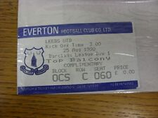 25/08/1990 Ticket: Everton v Leeds United. Thanks for viewing this item, buy wit