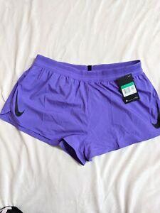"Mens Nike Aeroswift 2"" Inch Running Racing Shorts Purple AQ5257-550 Brand New XL"