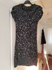 Papaya Black Mix Jumper Dress, Short Sleeved, Cotton Blend, Size 10, VGC