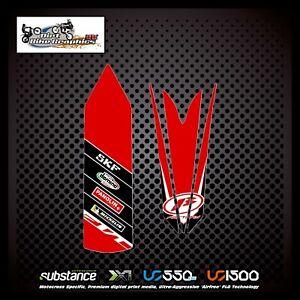 Beta Evo Michelin Panolin Front Rear Fender Red Decal Sticker Trials (645)