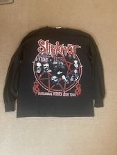 RARE Original SLIPKNOT Subliminal Verses Tour Shirt 2005 Long Sleeves Size L