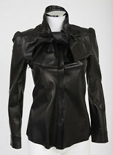 Tom Ford Gucci Leather Pussy Bow Tie Blouse Shirt sz 38 US 2-4 $2350