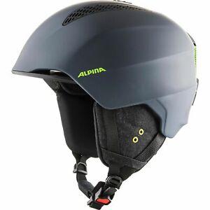 Alpina Adult Ski Helmet Grand Charcoal-Neon Matte Grey