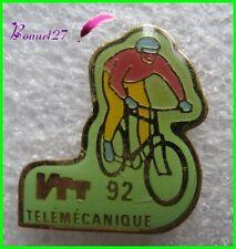 Pin's VTT TÉLÉMÉCANIQUE 1992 Vélo Cycliste #G2