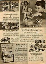 1964 AD Toy Play-Doh Forge Press Fun Factory Jewelry Maker Machine Sno-Cone Coke