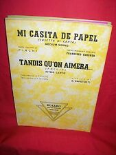 CODONER Mi casita de papel + CAPOTOSTI Tandis qu'on Aimera 1951 Spartiti