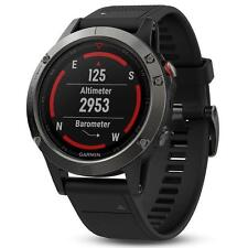 GARMIN  Fenix 5 Slate Gray with Black Band - GPS Multi Sport Fitness Watch