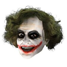 BATMAN THE JOKER Mask 3/4 Vinyl Mask with Hair