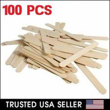 100 Pcs Flat Natural Wood Craft Sticks Popsicle Sticks Bulk 4-1/2