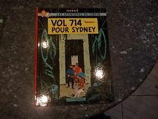 belle reedition ou eo tintin vol 747 pour sydney 4em plat b38 1968