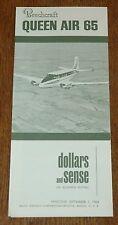 Vintage Rare 1964 Beechcraft Model 65 Queen Air Brochure