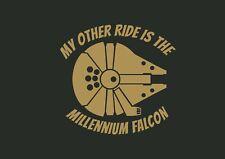 My Other Ride Is The Millennium Falcon Star Wars Design Car Decal Vinyl Sticker