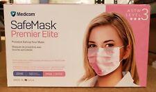 Medicom Astm Level 3 Safemask Premier Elite Mask 2046 Color Pink 50 Per Box