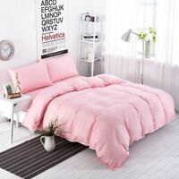 Pink Solid 5 PC Bed Set (Comforter&Sheet Set)US Sizes 1000 TC Egyptian Cotton