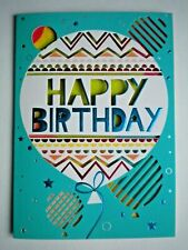 "PAPER MAGIC ~ GLITTERY ""HAPPY BIRTHDAY"" BALLOON GREETING CARD + ENVELOPE"