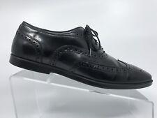 Mens Zara Black Leather Oxford Brogue Wingtip dress shoes Size 9 US Eur 40