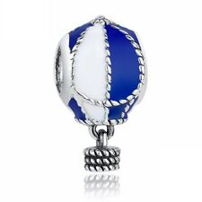 Hot Air Balloon Blue Charm 100% 925 Sterling Silver Pandora