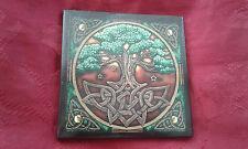 tree of life wicca Pagan Handmade Ceramic Tiles coaster altar v2