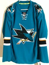 Reebok Authentic NHL Jersey San Jose Sharks Team Teal sz 46