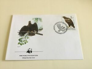 WWF Official First Day Cover , Hungary , Aquila Heliaca , 1983