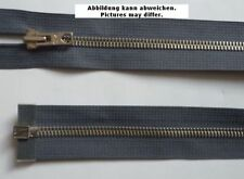 fermeture éclair métal divisible 65 cm BLEUGRIS