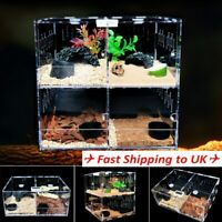 Clear Acrylic Vivarium Tank Reptile Spider Turtle Lizard Breeding Box