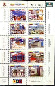 #1782 VENEZUELA 2004 EDUCATION,SPORT,DEVELOPMENT MSHEET YV 2365-74 MI 3634-3 MNH