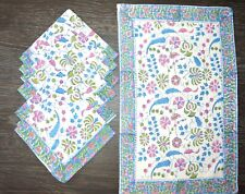 100% Cotton Indian Style Theme Dining Table Mats and Napkins Set of 6 Place Mats