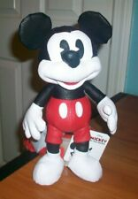 """Disney Mickey Mouse Simulated Leather Plush 10"""" The True Original Collection NWT"""