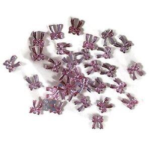 Pink Bow Rhinestones Set