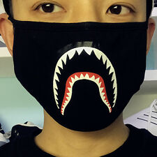 New A Bathing Ape Bape Shark Black Face Mask Camouflage Mouth-muffle BAPE