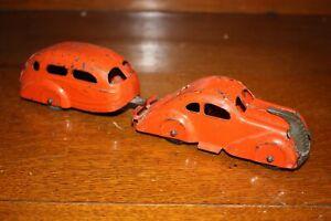 Antique WYANDOTTE AIR STREAM COUPE ZEPHYR W/ TRAILER Pressed Steel Toy Car NR
