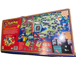 Hasbro Pokemon Master Trainer Game Board 1999 Edition Black Box Rare / Vintage