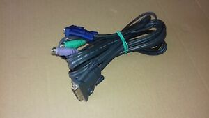 Cable KVM 3 m AWM Parallel male / VGA male + PS2 male Gris E233629-20276