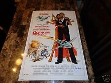 Roger Moore Rare Authentic Hand Signed James Bond Spy Movie Poster Octopussy PSA