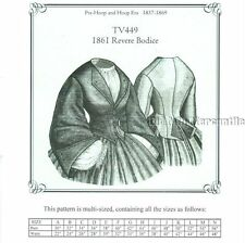 Sewing Pattern for 1861 Revere Bodice Jacket Truly Victorian TV449