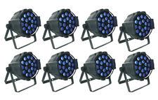 8/pack Zoom par can 18 x 18W RGBWA UV 6in1 LEDs zoom par light +flight case