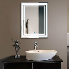 Decoraport Vertical LED Illuminated Lighted Bathroom Wall Mirror On Off Switch L