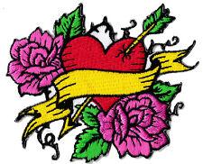 Patche écusson Coeur love cupidon badge thermocollant patch brodé