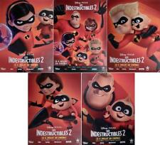THE INCREDIBLES 2 - DISNEY PIXAR - RARE BUS SHELTER CHARACTER MOVIE POSTERS SET