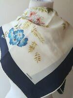Foulard scarf seta fiori mantero